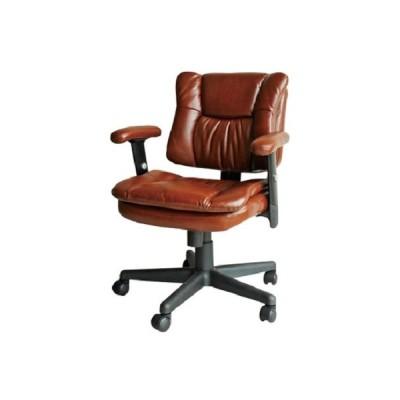 パソコンチェア デスクチェア バナー BANNER オフィスチェア ガスチェア 疲れにくい おしゃれ ブラウン レトロ 肘付 昇降チェア 椅子 チェア レザー