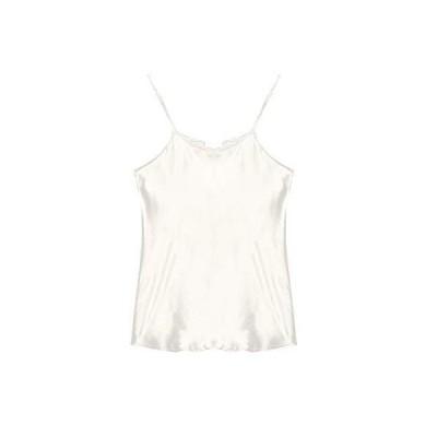 SIXIULIYU 100%シルクサテンのキャミソールの女性の夏の上の女性の下着は涼しく通気性 (01, L)
