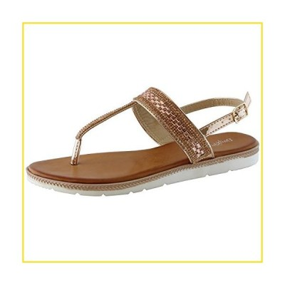 新品Dailyshoes Thong Sandals With Rhinestones Flat Sandal T-strap Flip-flop Slingback Ankle Strap Soft Decoration Open Toe Adjustable Thin Heel Summ