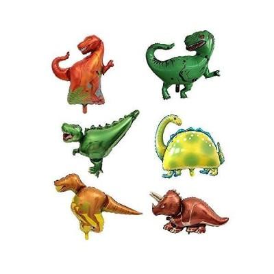 NEW ! 男の子が喜ぶ恐竜6体セット】 バルーンセット バルーンギフト ダイナソー ジュラシック アルミバルーン パーティー プレゼント