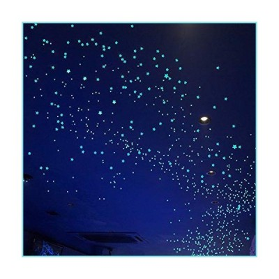 Glow in The Dark Stars Decals Decor for Ceiling 633 Pcs Realistic 3D Stickers Starry Sky Shining Decoration Perfect for Kids Bedroom Bedding