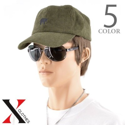 キャップ ベースボールキャップ BearコーデュロイLOWCAP メンズ 帽子 CAP ローキャップ ストリート カジュアル スポーツ 浅め