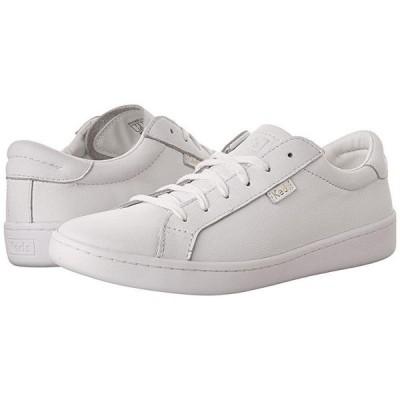 ケッズ Ace Leather レディース スニーカー White/White
