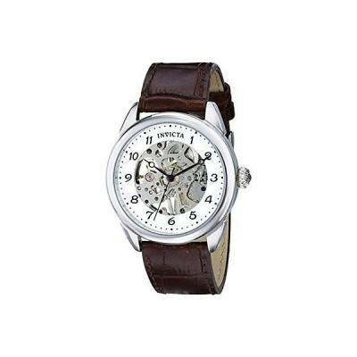 インヴィクタ 腕時計 Invicta 17187 メンズ Specialty アナログ Mechanical Hand Wind ブラウン レザー 腕時計
