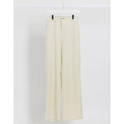 デイジーストリート Daisy Street レディース ボトムス・パンツ relaxed trousers in cream クリーム