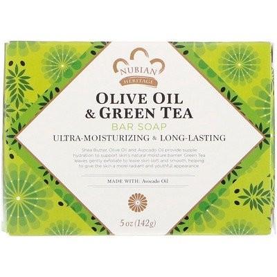 オリーブオイル & 緑茶バーソープ、5オンス (142 g)