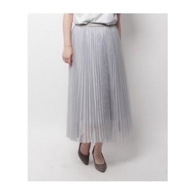 Modify(モディファイ)マットオーガンジープリーツスカート