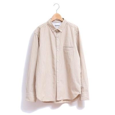 シャツ ブラウス オーガニックストライプ BDシャツ