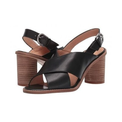 Madewell レディース 女性用 シューズ 靴 ヒール Ruthie Crisscross Heeled Sandal Leather - True Black