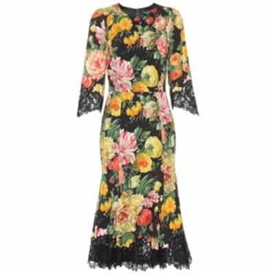 ドルチェ&ガッバーナ Dolce & Gabbana レディース ワンピース ワンピース・ドレス Lace-trimmed floral dress Mix Fiori Fdo Nero