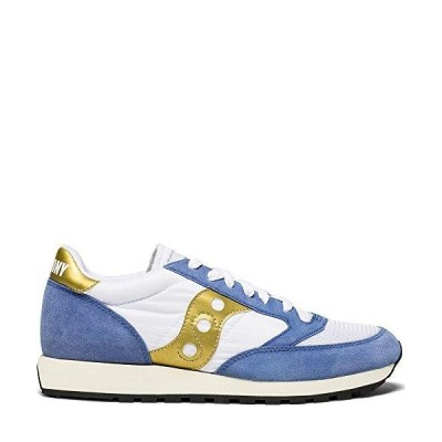メンズ 靴 カジュアル ファションスニーカー Saucony Originals Men's Jazz Vintage Running Shoe White/Blue 14 Medium US