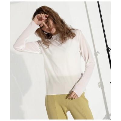 tシャツ Tシャツ シアートップス+リブキャミセット