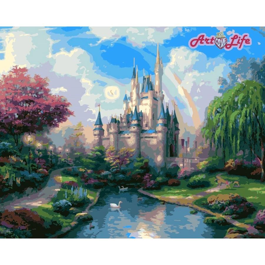 ArtLife 藝術生活 現貨 DIY 數字 油畫 彩繪 66106 夢幻古堡 40X50cm