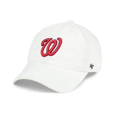 47ブランド メンズ 帽子 アクセサリー Washington Nationals White Clean Up Cap