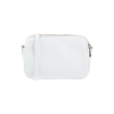 ローラ・ディ・マッジオ LAURA DI MAGGIO メッセンジャーバッグ ホワイト 革 メッセンジャーバッグ