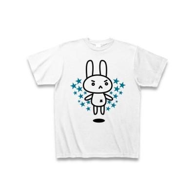 【兎】うさぎのぬいぐるみ【かわいい】 Tシャツ(ホワイト)