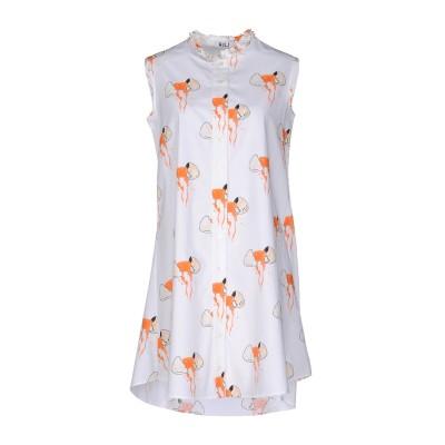 オージュールルジュール AU JOUR LE JOUR ミニワンピース&ドレス ホワイト 38 コットン 100% ミニワンピース&ドレス