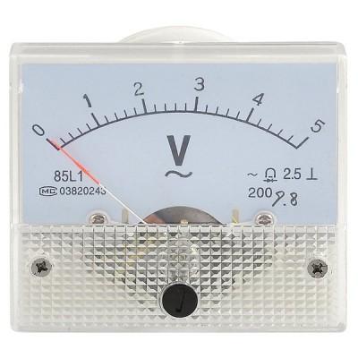 uxcell 交流電圧計 パネルメータ クラス2.5 AC 0-5V プラスチック シェル