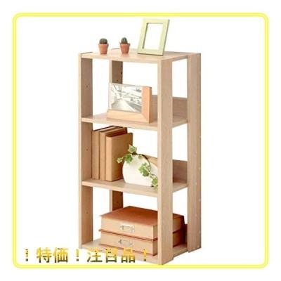 アイリスオーヤマ ラック ディスプレイ リビング収納 本棚 靴箱 下駄箱 木製 4段 幅40奥行29.2高さ87.9cm ナチュラ