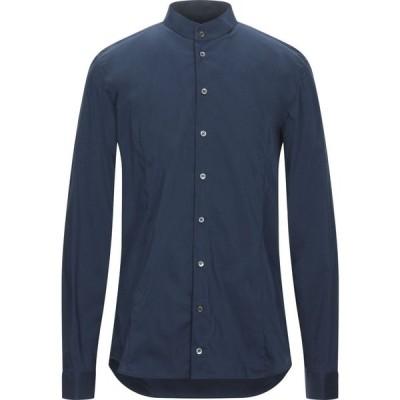 パトリツィア ペペ PATRIZIA PEPE メンズ シャツ トップス solid color shirt Slate blue