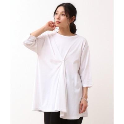 tシャツ Tシャツ ドレープ6分袖Tシャツ