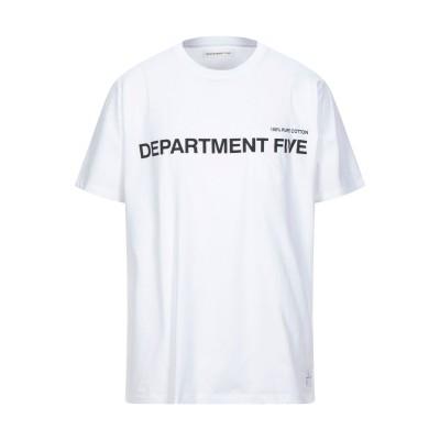 デパートメント 5 DEPARTMENT 5 T シャツ ホワイト XL コットン 100% T シャツ