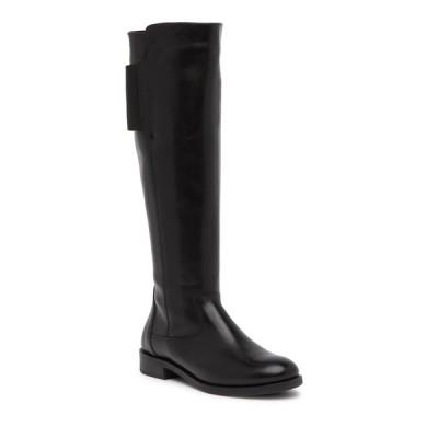 イタリアンシューメーカー レディース ブーツ&レインブーツ シューズ Anna Leather Knee-High Boot BLACK