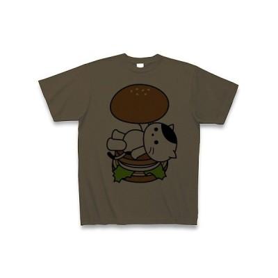 ハンバーガーねこ Tシャツ(オリーブ)