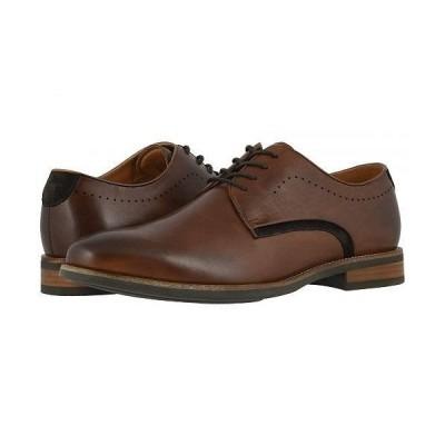 Florsheim フローシャイム メンズ 男性用 シューズ 靴 オックスフォード 紳士靴 通勤靴 Uptown Plain Toe Oxford - Cognac Leather/Suede