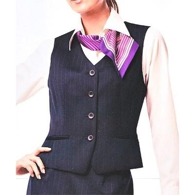 S-03211 ベスト ネイビー 全1色 (セロリー SELERY クレッセ 事務服 制服)