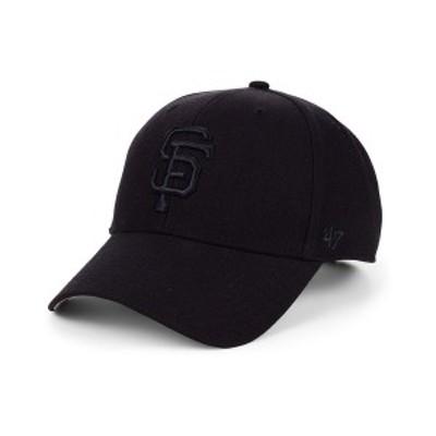 47ブランド メンズ 帽子 アクセサリー San Francisco Giants Black Series MVP Cap Black/Black