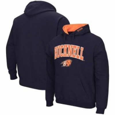 Colosseum コロセウム スポーツ用品  Colosseum Bucknell Bison Navy Arch & Logo Pullover Hoodie
