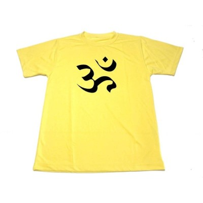 イエロー オーム ドライ Tシャツ マントラ 真言 梵字 開運厄除 魔除 グッズ  黄色