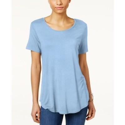 ジェイエムコレクション レディース カットソー トップス Petite Shirttail-Hem Top, Created for Macy's Marina