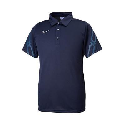ミズノ(MIZUNO) メンズ レディース ポロシャツ ディープネイビー 32MA9176 14 半袖 トレーニングウェア スポーツウェア
