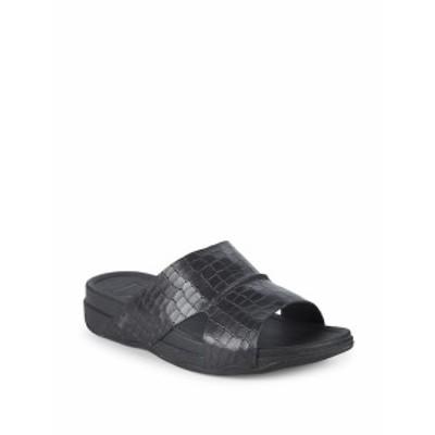 フィットフロップ メンズ サンダル スリッポン Bando Leather Slides