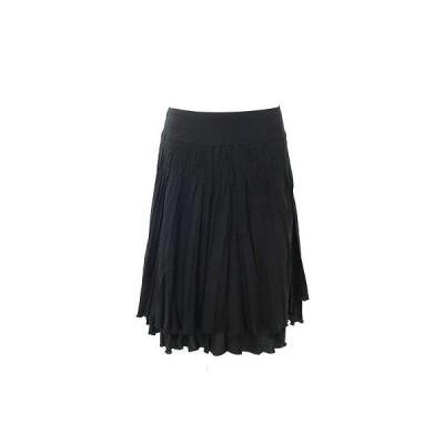 ビアッジョブルー(Viaggio Blu)黒プリーツスカート2