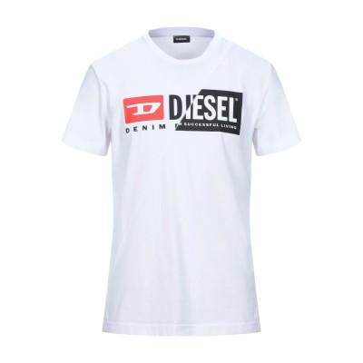 ディーゼル DIESEL T シャツ ホワイト S コットン 100% T シャツ