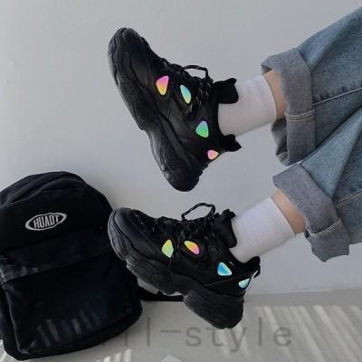 ダッドスニーカー厚底韓国オルチャンストリート原宿系V系靴シューズ