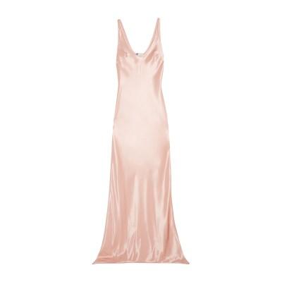 ランバン LANVIN ロングワンピース&ドレス ライトピンク 34 アセテート 55% / レーヨン 45% ロングワンピース&ドレス