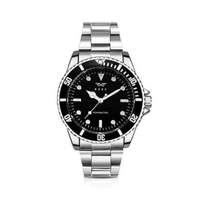 Exec Men's Analogue Quartz Watch with Stainless Steel Bracelet 0079 並行輸入品