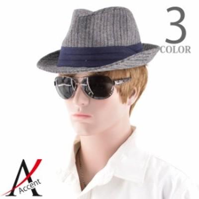 ハット 帽子 メンズ へリンボーン ストライプ ハイバック サイズ調整可能