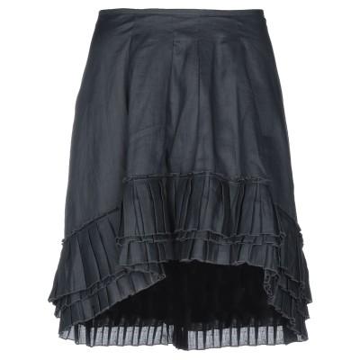 ドンダップ DONDUP ミニスカート ブラック 44 100% ラミー ミニスカート