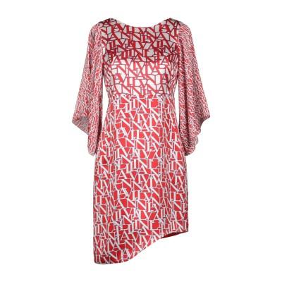 ランバン LANVIN ミニワンピース&ドレス レッド 38 シルク 100% ミニワンピース&ドレス