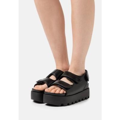 レディース 靴 シューズ HUGO - Platform sandals - black