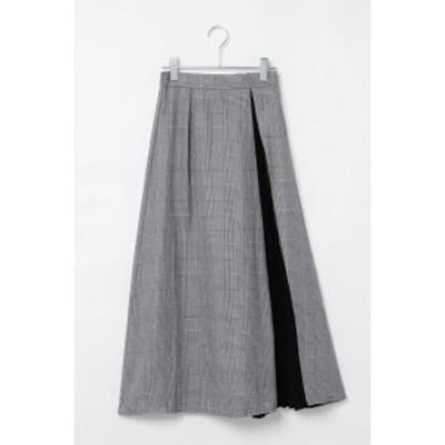 【NEW】ヴァンスエクスチェンジ レディース(VENCE EXCHANGE)/ファスナー付チェックロングスカート