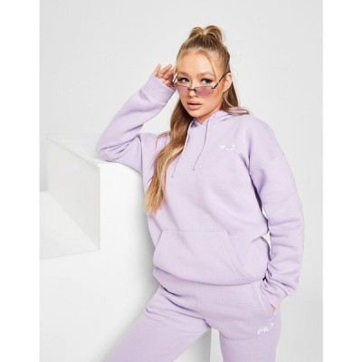 フィラ Fila レディース パーカー トップス Core Logo Boyfriend Hoodie purple