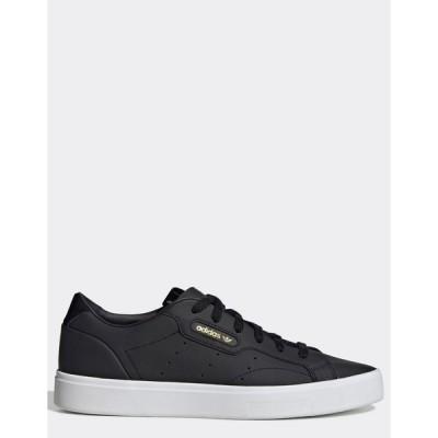 アディダスオリジナルス レディース スニーカー シューズ adidas Originals Sleek sneakers in black Black