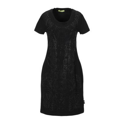 VERSACE JEANS ミニワンピース&ドレス ブラック XS コットン 94% / ポリウレタン 6% ミニワンピース&ドレス