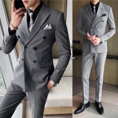 フォーマル メンズスーツ 結婚式 パーティー 2点セット 3点セット 日常 デート 礼服 カジュアル 大きいサイズ 通勤 出張 セットアップ 面
